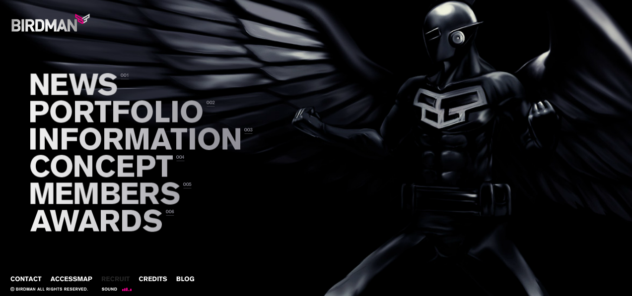 Birdman-homepage