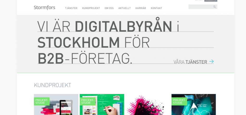 Stormfors - Digital - agency - sweden