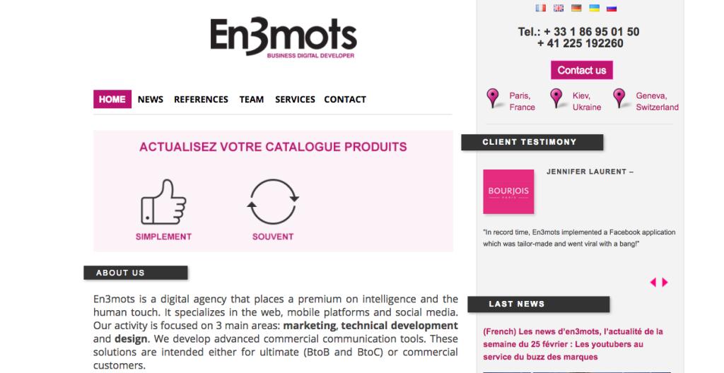 En 3 mots - Digital - Agency - France