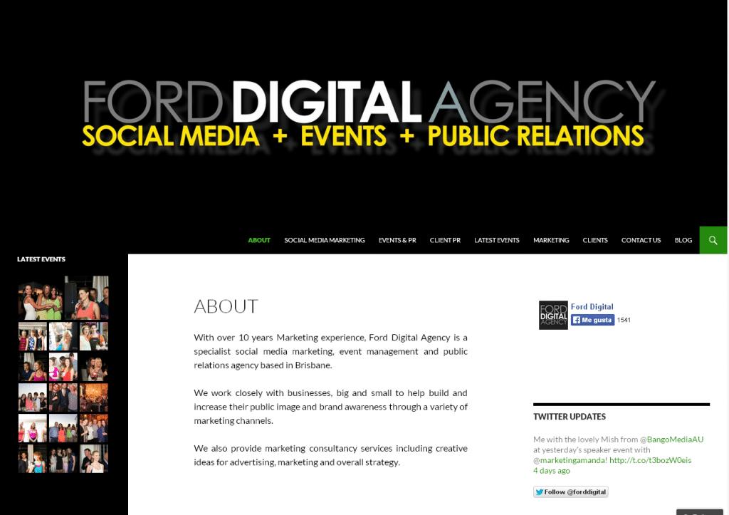 Ford Digital Agency Brisbane Marketing Social Media and Public Relations   Social Media Management and strategy Events and Public Relations Brisbane