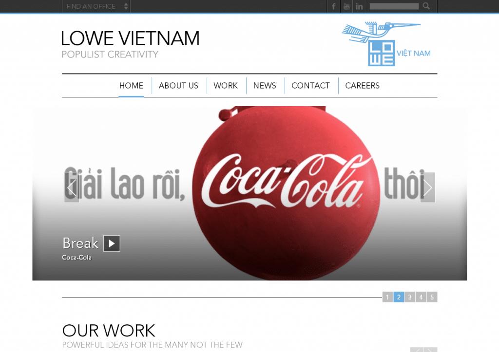 Lowe Vietnam   A Lowe and Partners Worldwide Agency Website