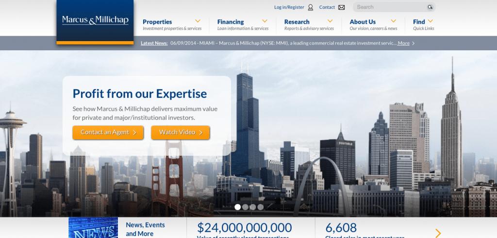 Marcus   Millichap   Real Estate Investment