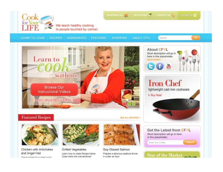 Cook for Your Life - Website New2014