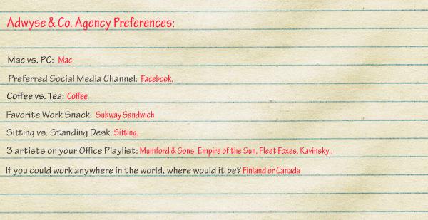 Adwyse-Agency-Preferences