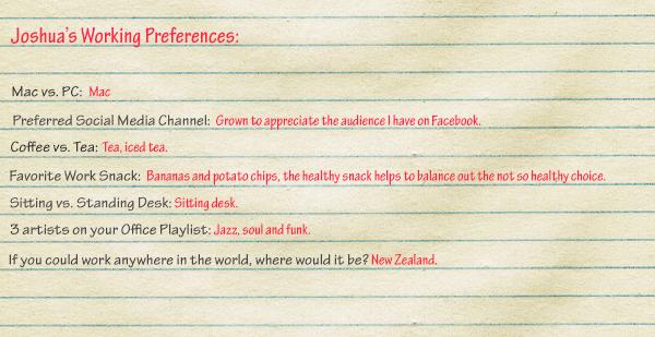 Joshua-Preferences