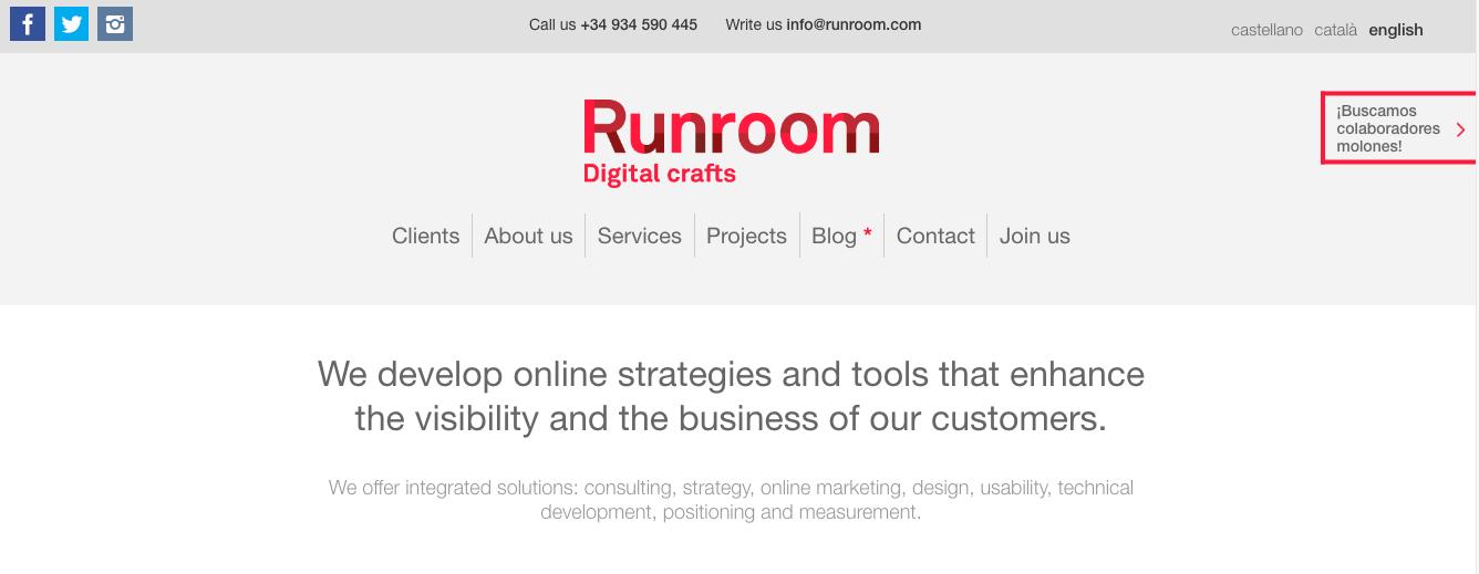 Runroom-Homepage