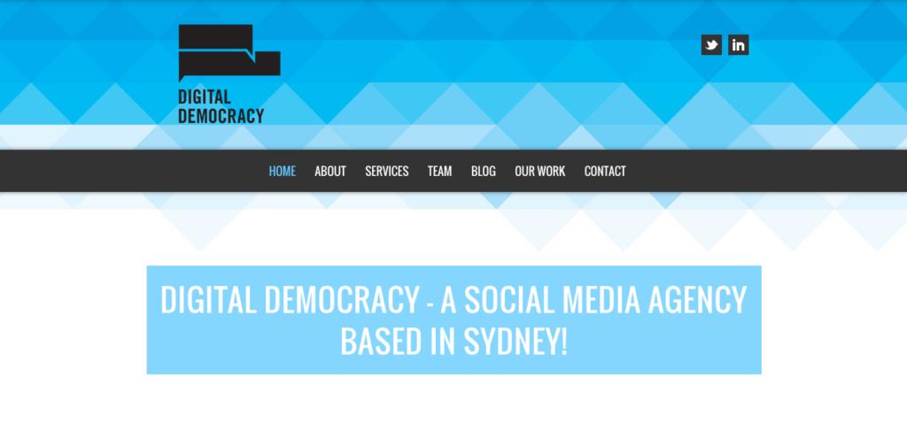 Digital Democracy - Sydney - Agency - Digital