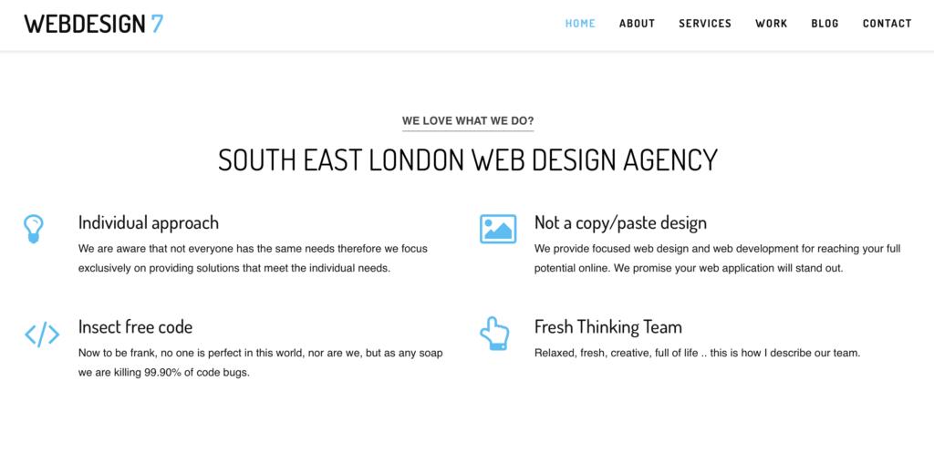 Webdesign7 Top Interactive Agencies